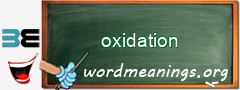 WordMeaning blackboard for oxidation